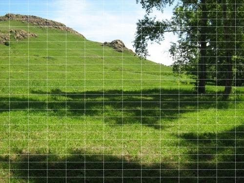Рис 2 Изображение с сеткой